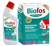 BIOFOS 1 kg + WC ŻEL 500 ml, bakterie do szamb
